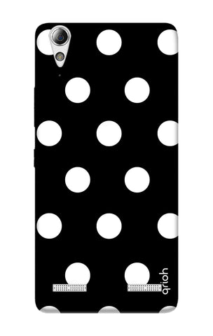 White Polka On Black Lenovo A6000 Cases & Covers Online