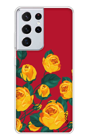 Yellow Floral Case Samsung Galaxy S21 Ultra Cases & Covers Online