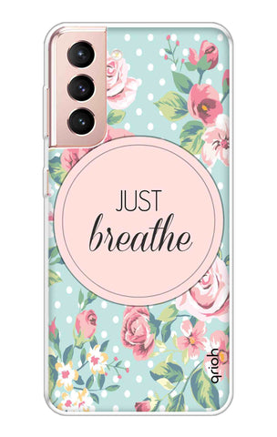 Vintage Just Breathe Samsung Galaxy S21 Plus Cases & Covers Online