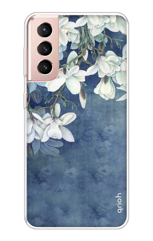 White Flower Samsung Galaxy S21 Plus Cases & Covers Online