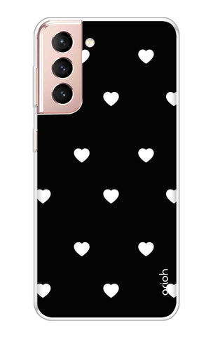 White Heart Samsung Galaxy S21 Cases & Covers Online