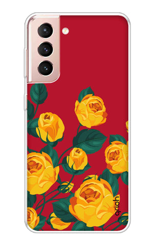 Yellow Floral Case Samsung Galaxy S21 Cases & Covers Online