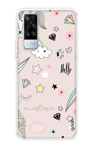 Unicorn Doodle Vivo Y51A Cases & Covers Online
