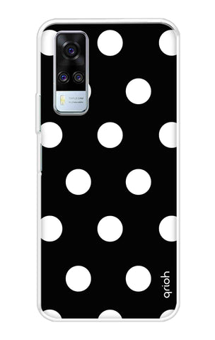 White Polka On Black Vivo Y51A Cases & Covers Online