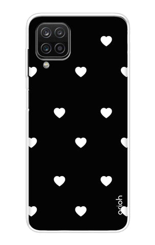 White Heart Samsung Galaxy A12 Cases & Covers Online