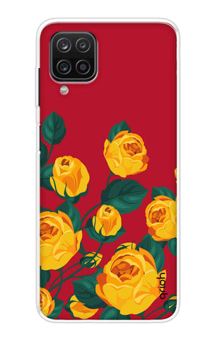 Yellow Floral Case Samsung Galaxy A12 Cases & Covers Online