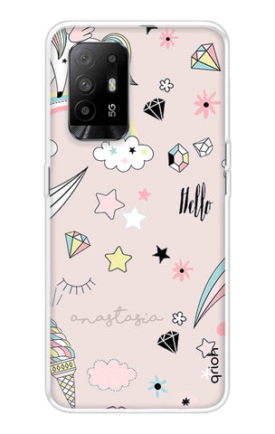 Unicorn Doodle Oppo F19 Pro Plus Cases & Covers Online