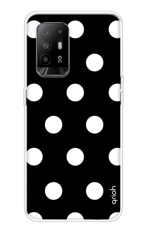 White Polka On Black Oppo F19 Pro Plus Cases & Covers Online
