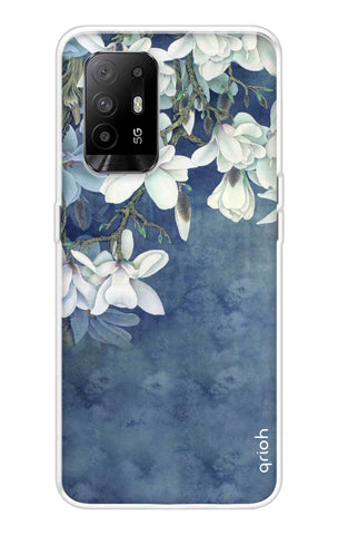 White Flower Oppo F19 Pro Plus Cases & Covers Online