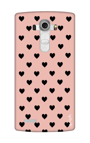Black Hearts On Pink LG G4 Cases & Covers Online