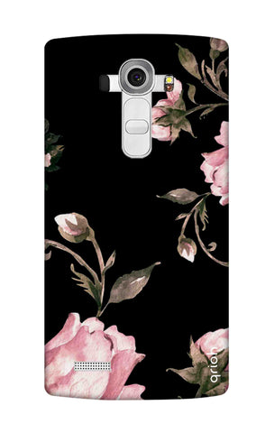 Pink Roses On Black LG G4 Cases & Covers Online