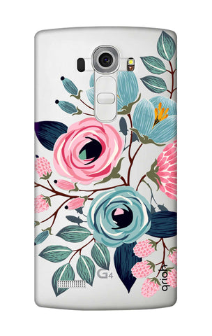 Pink And Blue Floral LG G4 Cases & Covers Online