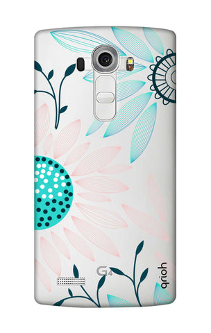 Pink And Blue Petals LG G4 Cases & Covers Online
