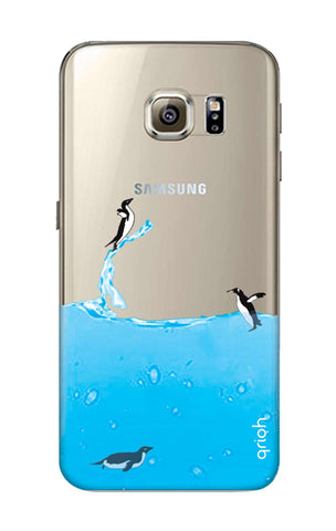 Penguins In Water Samsung S6 Cases & Covers Online