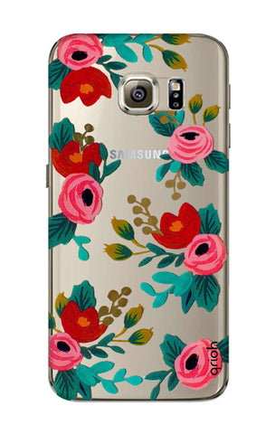 Red Floral Samsung S6 Cases & Covers Online