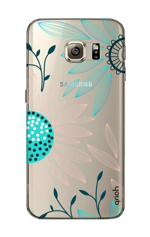 Pink And Blue Petals Samsung S6 Cases & Covers Online