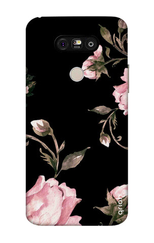 Pink Roses On Black LG G5 Cases & Covers Online