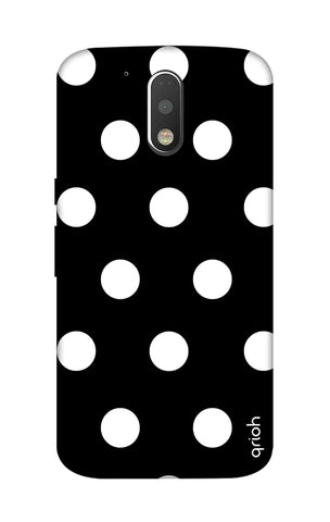 White Polka On Black Motorola Moto G4 Cases & Covers Online