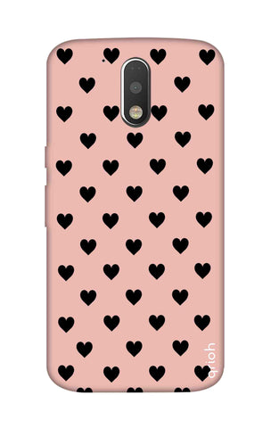 Black Hearts On Pink Motorola Moto G4 Cases & Covers Online