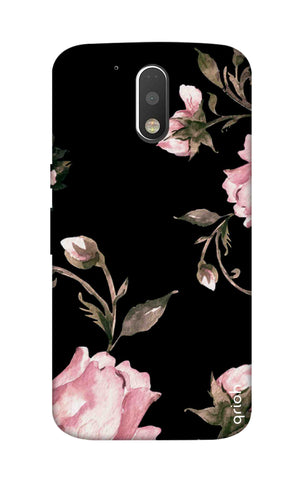 Pink Roses On Black Motorola Moto G4 Cases & Covers Online
