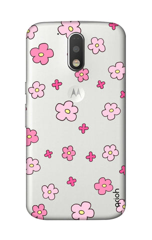 Pink Flowers All Over Motorola Moto G4 Cases & Covers Online