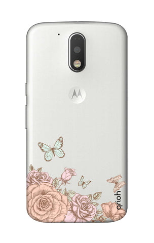 Flower And Butterfly Motorola Moto G4 Cases & Covers Online