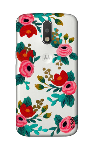 Red Floral Motorola Moto G4 Cases & Covers Online