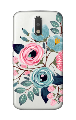 Pink And Blue Floral Motorola Moto G4 Cases & Covers Online