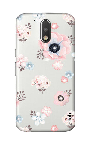 Beautiful White Floral Motorola Moto G4 Cases & Covers Online