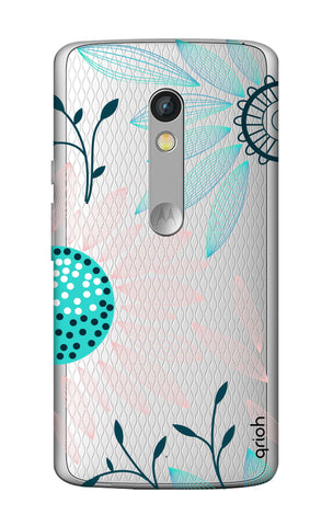 Pink And Blue Petals Motorola Moto X Play Cases & Covers Online