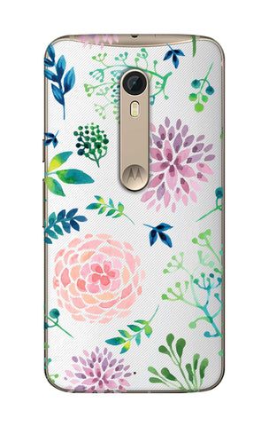 Lillies, Orchids And Leaves Motorola Moto X Style Cases & Covers Online