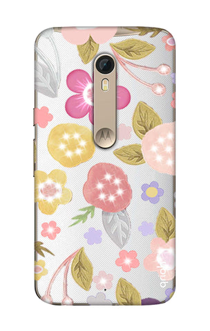 Multi Coloured Bling Floral Motorola Moto X Style Cases & Covers Online
