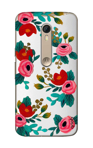 Red Floral Motorola Moto X Style Cases & Covers Online