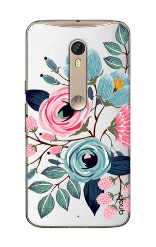 Pink And Blue Floral Motorola Moto X Style Cases & Covers Online
