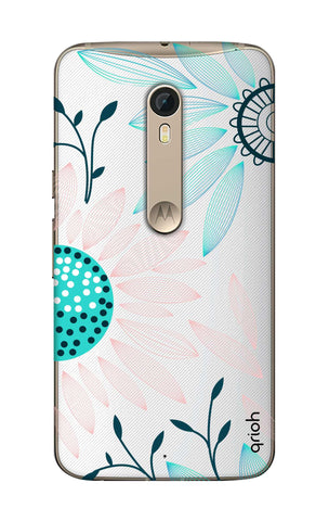 Pink And Blue Petals Motorola Moto X Style Cases & Covers Online