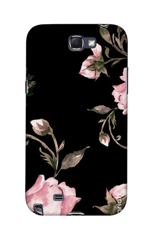 Pink Roses On Black Samsung Note 2 Cases & Covers Online