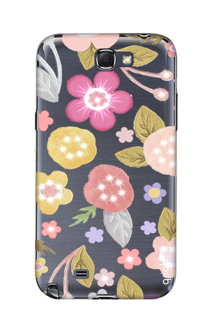 Multi Coloured Bling Floral Samsung Note 2 Cases & Covers Online