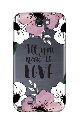 All You Need is Love Samsung Note 2 Cases & Covers Online