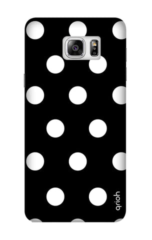 White Polka On Black Samsung Note 7 Cases & Covers Online