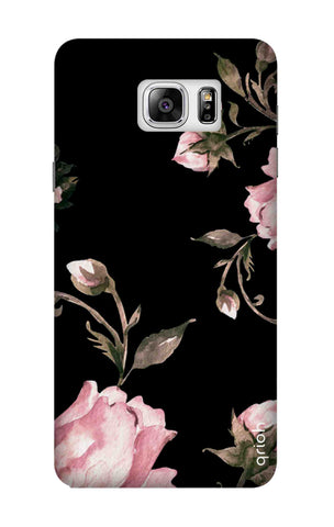 Pink Roses On Black Samsung Note 7 Cases & Covers Online