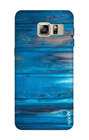 Blue Wooden Samsung S6 Edge Plus Cases & Covers Online