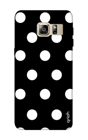 White Polka On Black Samsung S6 Edge Plus Cases & Covers Online