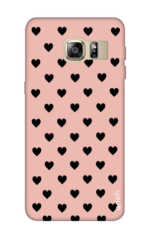 Black Hearts On Pink Samsung S6 Edge Plus Cases & Covers Online