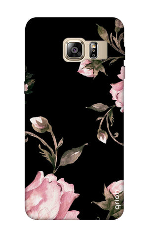 Pink Roses On Black Samsung S6 Edge Plus Cases & Covers Online