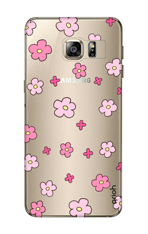 Pink Flowers All Over Samsung S6 Edge Plus Cases & Covers Online