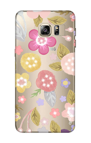 Multi Coloured Bling Floral Samsung S6 Edge Plus Cases & Covers Online