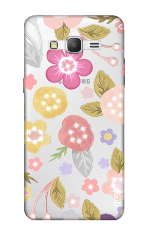 Multi Coloured Bling Floral Samsung Grand Prime Cases & Covers Online