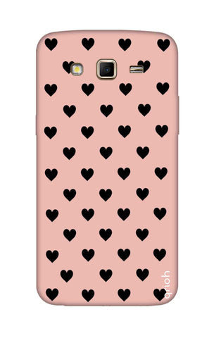 Black Hearts On Pink Samsung Grand 2 Cases & Covers Online
