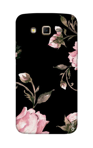 Pink Roses On Black Samsung Grand 2 Cases & Covers Online