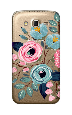 Pink And Blue Floral Samsung Grand 2 Cases & Covers Online